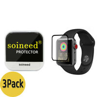 {3-Pack} SOINEED® Apple Watch 38mm Series 3 / 2 / 1 FULL COVER Tempered Glass