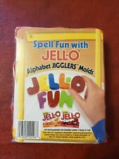 JELL-O Alphabet Jigglers Molds JELLO FUN ABC Shape Cookie Cutters Spelling Words