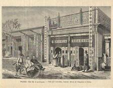 Stampa antica PECHINO BEIJING una via Cina China 1895 Old antique print