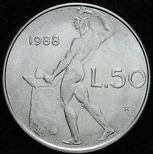 1988  Repubblica Italiana   50   lire