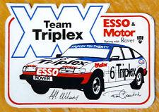 TEAM TRIPLEX esso & Motore Rover SD1 Jeff ALLAM CORSA Motorsport Adesivo / Decalcomania