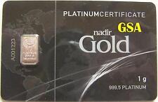 PLATINBARREN / PLATIN - Z.B.: HERAEUS / DEGUSSA / NADIR / UMICORE - ANLAGE