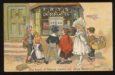 FRY'S Milk Chocolate Advert Shop Children 1907 PPC