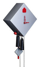 Black Forest Modern Art Cuckoo Clock Rhombus silver NEW