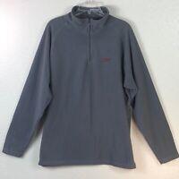 Reebok Men's Extra Large XL Gray Half Zip Pullover Sweatshirt