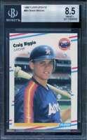 Craig Biggio Rookie Card 1988 Fleer Update #89 BGS 8.5