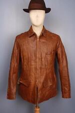 Vtg 40s WEATHER MASTER Pony HORSEHIDE Leather Half Belt Motorcycle Sports Jacket