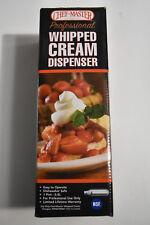 ChefMaster 90062 NSF Stainless Steel Whipped Cream Dispenser - 0.5L / 1 Pint