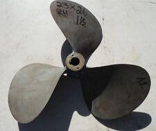 """23 X 26 BRONZE 3 Blade Right Hand Propeller 1-1/2"""" Bore Prop Wheel 23x26"""