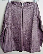 CHICO'S WOMEN'S CRINKLED JACKET SILVER COLOR LIGHTWEIGHT SIZE 0 LONG SLEEVE NWOT
