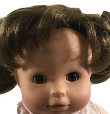 """Götz 15"""" Girl Brunette Brown Sleep Eyed Cloth Vinyl Doll B012"""