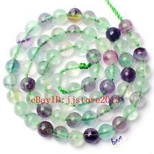 "6mm Natural Mixed Fluorite Round Shape DIY Gemstone Loose Beads Strand 15"""