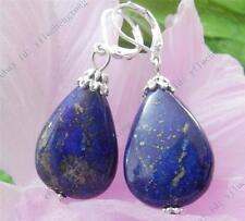 Natural Drop Egyptian Blue Lapis Lazuli Beads Drop Dangle Earrings