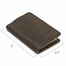 NEW Leather Composition Notebook Covers Pocket Dark Brown FREE SHIPPING