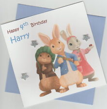 Personalised Handmade Peter Rabbit & Friends 1st, 2nd, 3rd, 4th Birthday Card