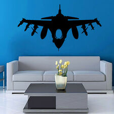 Vinyl Wall Decal Sticker Design Airplane Fighter VY366