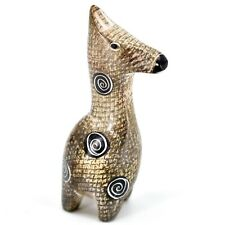 Crafts Caravan Hand Carved Soapstone Brown Giraffe Figurine Made in Kenya