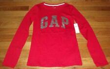 NEW NWT GAP GapKids Girls Glitter Arch Logo Long Sleeve T-Shirt XXL Red *T9