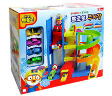Pororo Parking garage Toy Set Mini 4 Cars Animation Children's Kids Gift