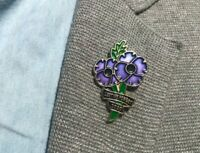 World War Never Forget Animal Dog Peace Purple Poppy Enamel Pin Badge Brooch