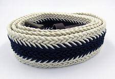 Belt White-blue universal fabric