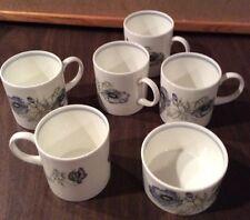 5 Wedgwood Bone China SUSIE COOPER Glen Mist Demi Teacups and small bowl