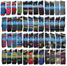 3-12 Pairs Men Spots Colorfull Retro Odd Stripes  Fresh Feel Cotton Socks UK 6-1