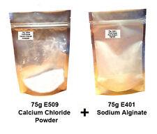 Calcium Chloride Powder E509  + Sodium Alginate E401    - Molecular cuisine