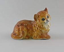 Sdraiato Gatto rosso Ens Figurine Porcellana 18x15cm 9997148
