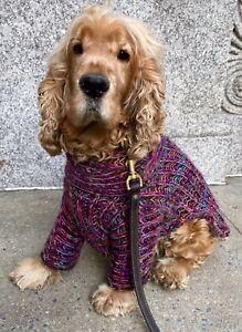 Handmade Multicolor Turtleneck Dog Sweater- All Sizes