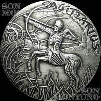 SAGITTARIUS - #11 SkullCoins 2015 ZODIAC Memento Mori Series 1oz SILVER Round