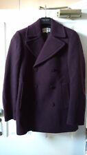 Reiss Men's Borgogna Peacoat-A/W 2014-Taglia UK Extra-Small-appena indossato
