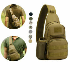 Tactical Sling Bag Chest Pack EDC Molle Backpack Hiking Daypack for Men Women