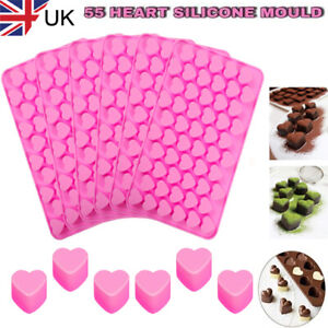 55 Wax Melt Mould Sweet Hearts Silicone Chocolate Mold Baking Valentine Jelly