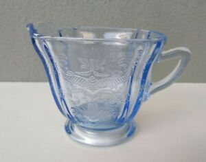 INDIANA - RECOLLECTIONS - BLUE GLASS CREAMER