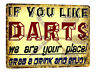 DARTS Metal Sign funny VINTAGE style bar pub MANCAVE garage wall decor art 688