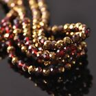 100pcs 6x4mm Rondelle Faceted Crystal Glass Loose Beads Gold&Red