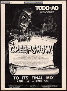 CREEPSHOW__Original 1982 Trade print AD / poster__TODD-AO Final Mix_STEPHEN KING