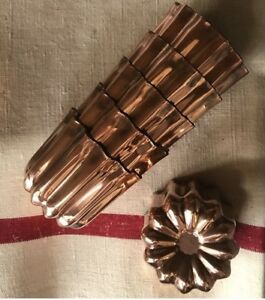 French Copper Canele Moulds x 6