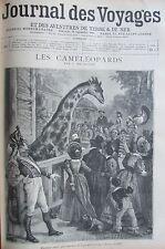 JOURNAL DES VOYAGES N° 951 de 1895 AFRIQUE ANIMAUX GEANT PEUPLES DU HAUT ZAMBEZE