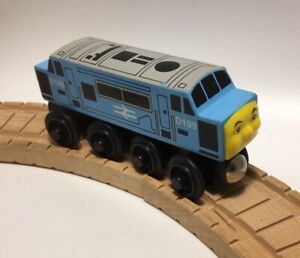 Thomas Wooden Railway 1st Edition D199 '96 ADULT OWNED Allcroft Train Set Diesel