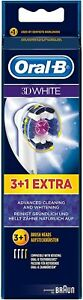 Oral-B 3D White Electric Toothbrush Replacement Heads Pack of 4 - Genuine