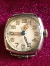 Antique Swiss Mvmt In Wadsworth 14k Gold F Ww1 Era Military Stl Wrist Watch Case