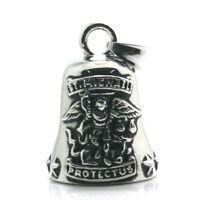 Live to Ride Bell St Saint Michael Protect Us Motorbike Biker Guardian Luck UK