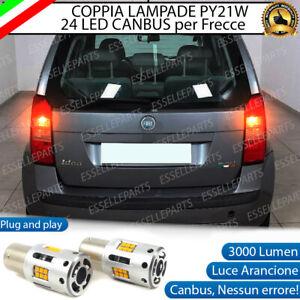 COPPIA LAMPADE PY21W CANBUS 35 LED FIAT IDEA FRECCE POSTERIORI NO ERROR