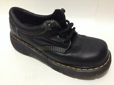 al. Doc Dr. Martens Unisex Black Leather Boots/Shoe Oxford 7 Men 8 Woman 3A10