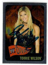 Torrie Wilson Signed 2006 Topps Chrome WWE Heritage Diva Card #61