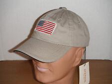 Men's American Flag Stetson ball cap tan baseball hat