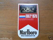 STICKER,DECAL MARLBORO 1978 GRAND PRIX FORMULA 1 ZANDVOORT
