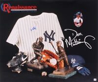 DON MATTINGLY SIGNED NY YANKEES 20x24 PHOTO COLLAGE MARLINS MANAGER UNDER JETER